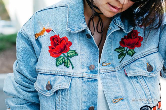 Как украсит своими руками джинсовую куртку 29